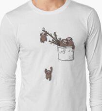 Pocket Sloth Family Long Sleeve T-Shirt