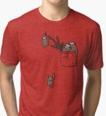 Pocket Sloth Family Tri-blend T-Shirt