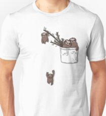 Pocket Sloth Family Unisex T-Shirt