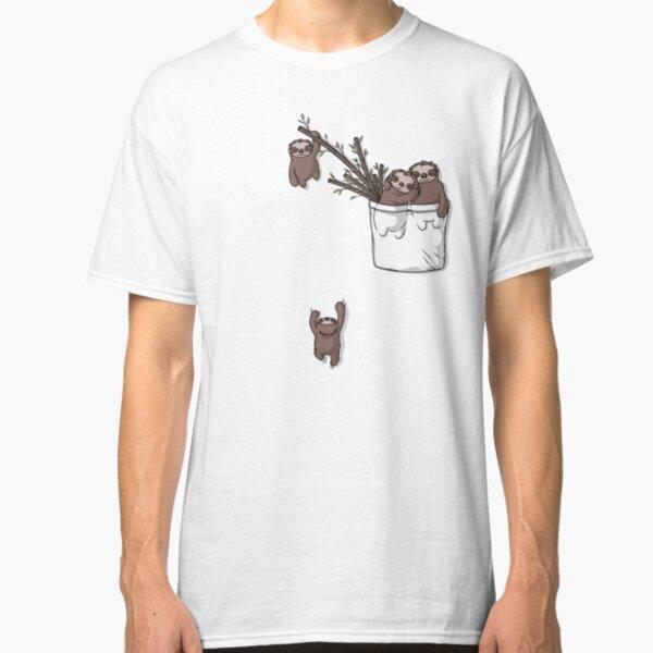 Pocket Sloth Family Classic T-Shirt