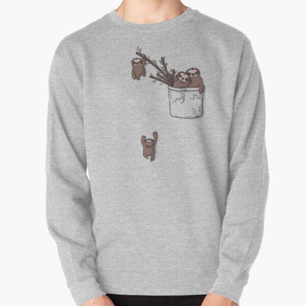 Pocket Sloth Family Pullover Sweatshirt