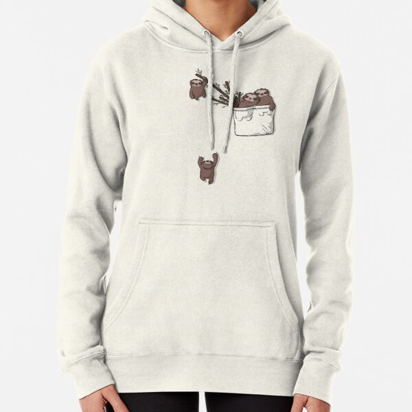 Pocket Sloth Family Pullover Hoodie