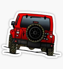 Jeep Wrangler JK [Red] Sticker