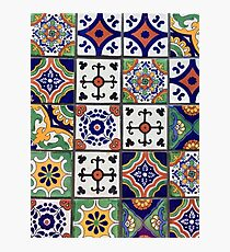 Mexican Tiles Photographic Print