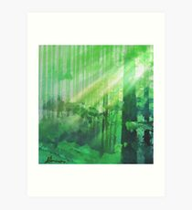 Forest Rays Art Print