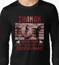 Shaman Night-Mare Drum Siberian Trance  Long Sleeve T-Shirt