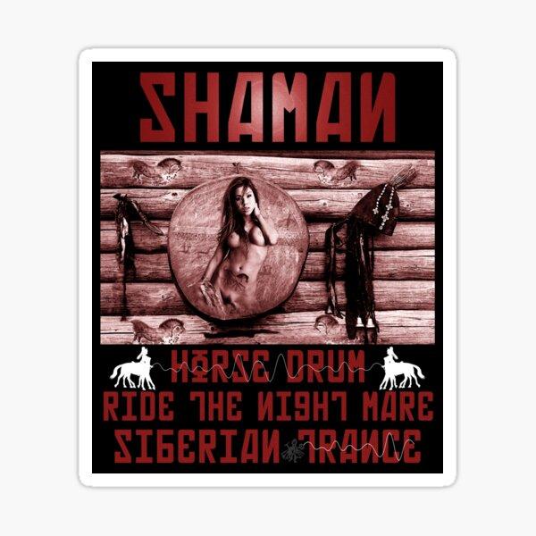 Shaman Night-Mare Drum Siberian Trance  Sticker