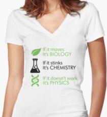 Biology - Chemistry - Physics jembutmu Women's Fitted V-Neck T-Shirt