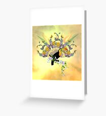 Funny toucan Greeting Card
