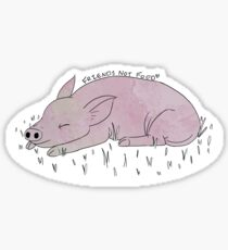 Pigs are friends, not food. (coloured) Sticker