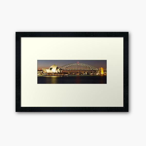 Sydney's Famous - Harbour Bridge & Opera House Framed Art Print