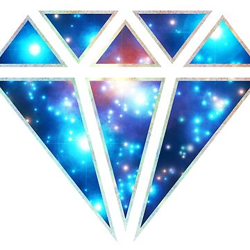 Diamond, galaxy style, triangle, space, cosmic by nitty-gritty