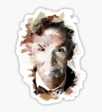Paint-Stroked Portrait of Scientist and Astronomer, Bill Nye - The Science Guy Sticker