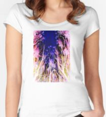 Moonlit Trees Women's Fitted Scoop T-Shirt