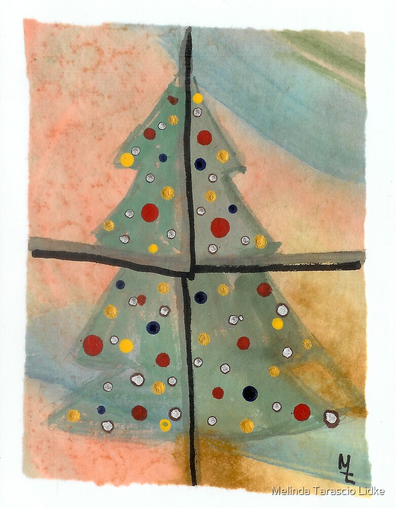 Christmas Tree Watercolor 29c by Melinda Tarascio Lidke