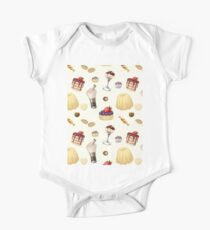 Sweet pattern with various desserts. Kids Clothes