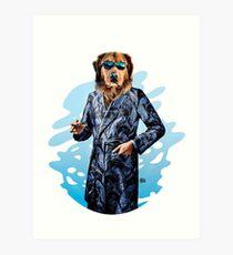 Smoking Dog Pepe Psyche Art Print