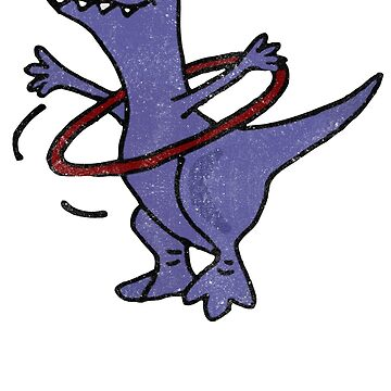 T-Rex Dinosaur Playing Hula Hoop by yaditrishop