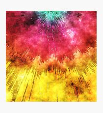 Colorful Textured Tie Dye Photographic Print