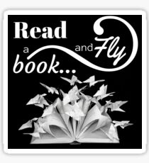 Read a Book and Fly... Sticker