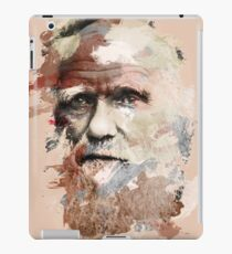 Paint Stroked Portrait of Charles Darwin iPad Case/Skin