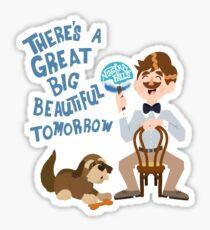 Man Has A Dream Sticker