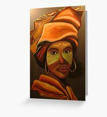Xhosa lady Greeting Card