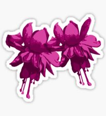 purple fuchsia Sticker