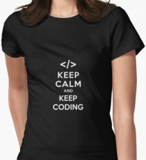 Keep calm and keep coding Women's Fitted T-Shirt