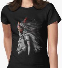 mononoke sans fury  Womens Fitted T-Shirt