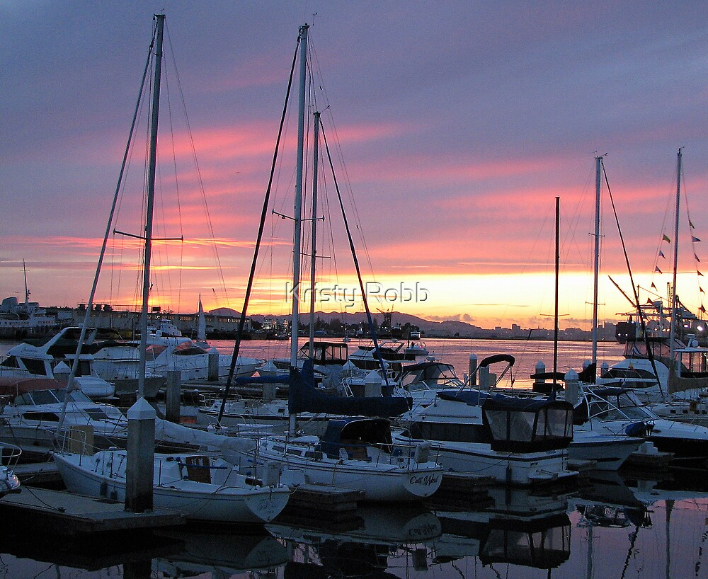 Sunset Over the Harbor by Kristy Robb
