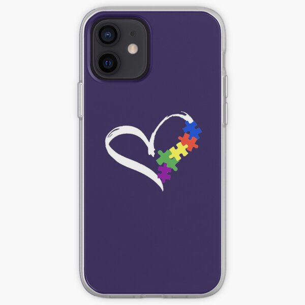 Autism Tshirt Awareness Support ASD Love Puzzle Ribbon iPhone Soft Case