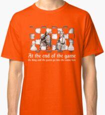 chess deep quote motivational inspirational black white illustration  Classic T-Shirt