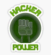 Hacker Power Sticker
