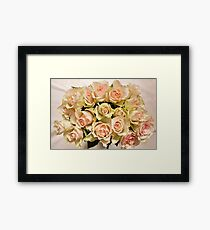 Flowers roses beautiful bouquet Framed Print
