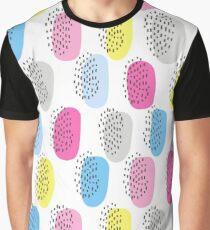 Simple memphis cute pattern. Seamless background.  Graphic T-Shirt