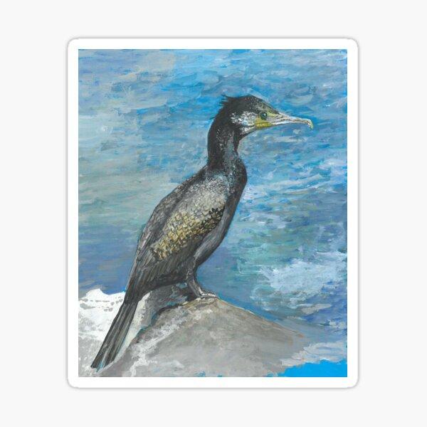 Cormorant painting Sticker