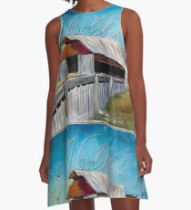 The Woolshed in the Sky A-Line Dress