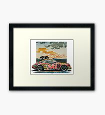 Porsche 911 Power Flower Framed Print