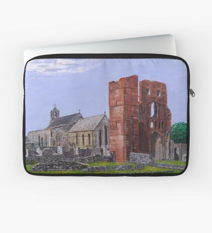 Lindisfarne Priory and St. Mary's Church Laptop Sleeve