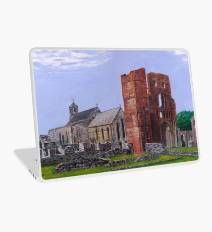 Lindisfarne Priory and St. Mary's Church Laptop Skin