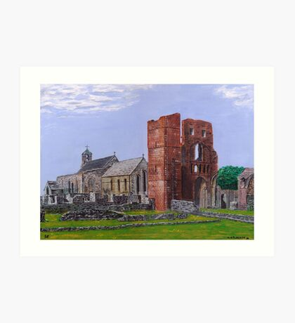 Lindisfarne Priory and St. Mary's Church Art Print