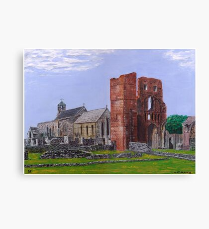 Lindisfarne Priory and St. Mary's Church Canvas Print