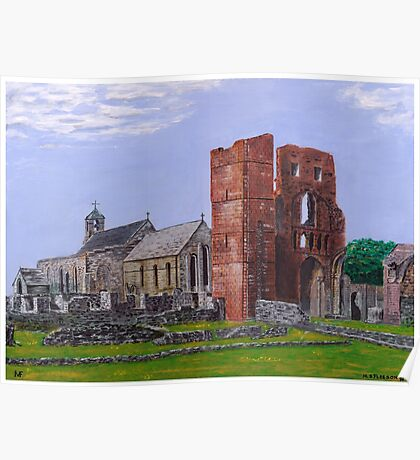 Lindisfarne Priory and St. Mary's Church Poster