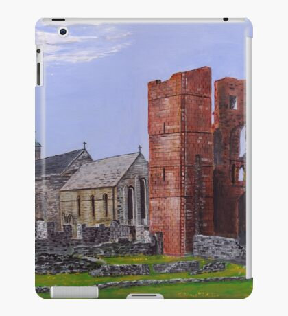 Lindisfarne Priory and St. Mary's Church iPad Case/Skin