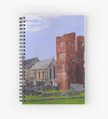 Lindisfarne Priory and St. Mary's Church Spiral Notebook