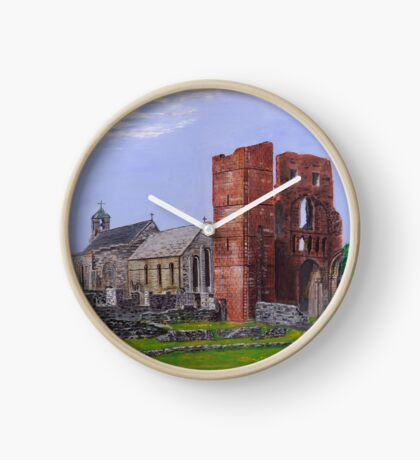 Lindisfarne Priory and St. Mary's Church Clock