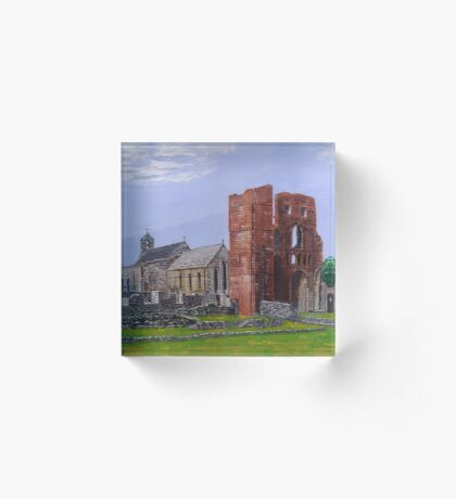 Lindisfarne Priory and St. Mary's Church Acrylic Block