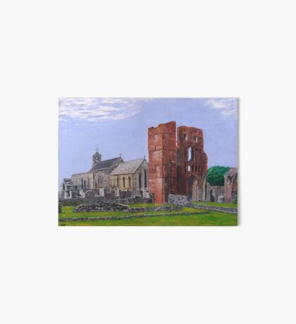 Lindisfarne Priory and St. Mary's Church Art Board