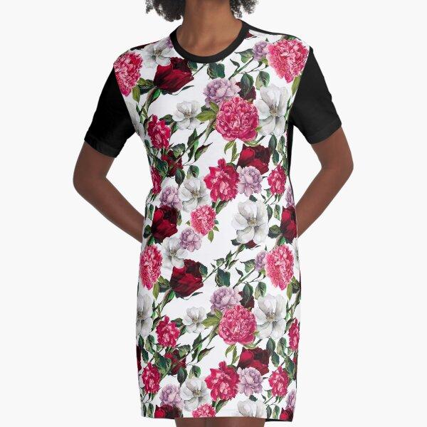 Floral Dream Graphic T-Shirt Dress